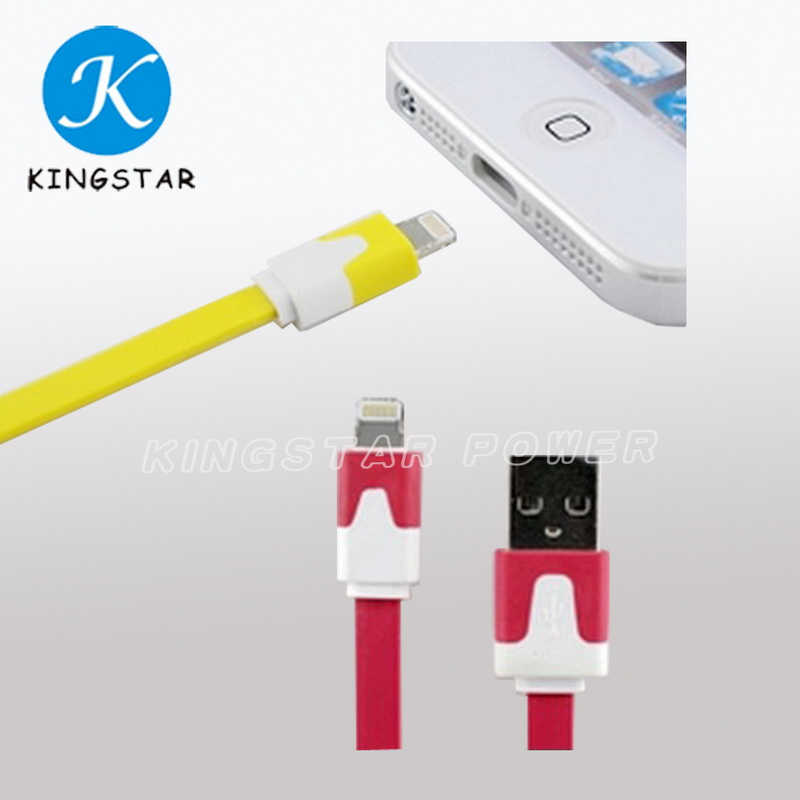 Colorful Noodle USB Sync and Charge Cable for iPhone5